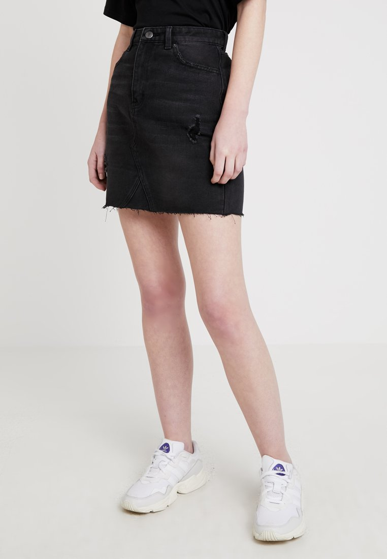 Even&Odd - Denim skirt - black denim