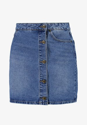 A-line skirt - blue denim