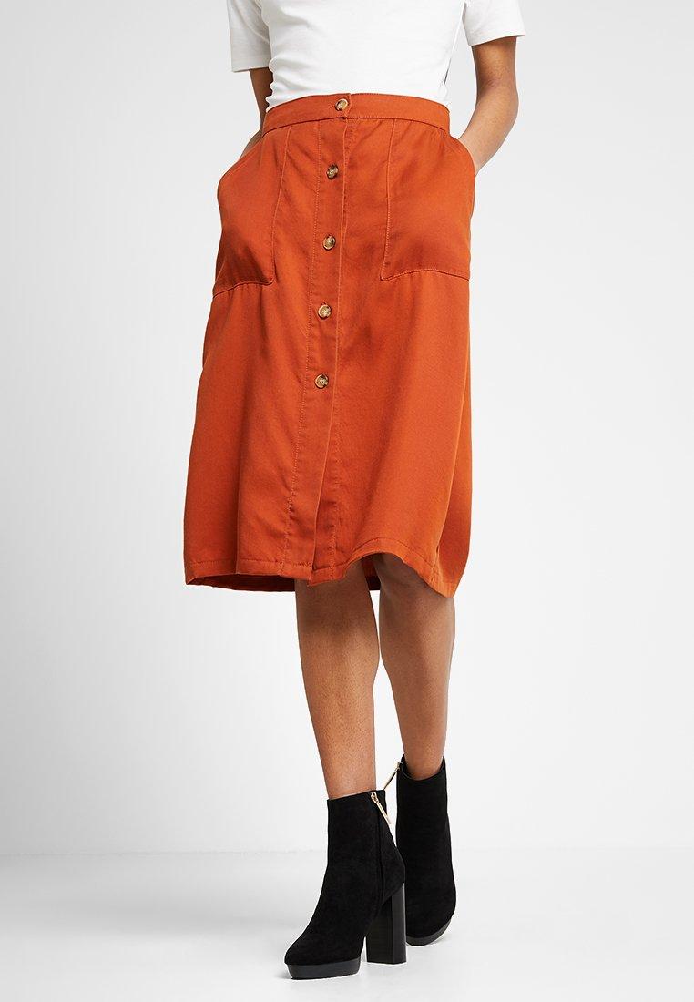 Even&Odd - A-line skirt -  light brown