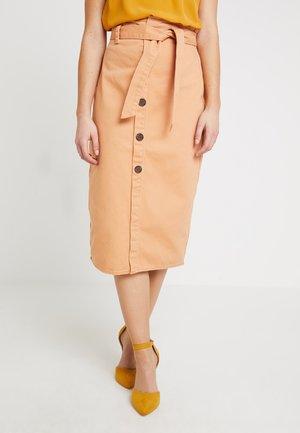 Denim skirt - peach blush