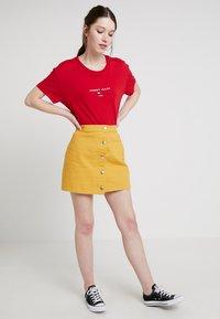 Even&Odd - A-lijn rok - yellow - 1