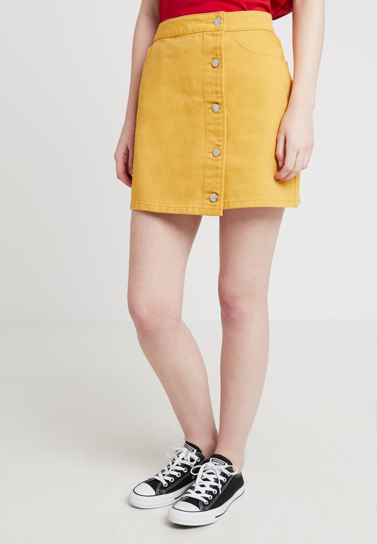 Even&Odd - A-line skirt - yellow