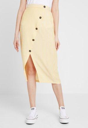 Pencil skirt - off-white/mustard