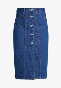 Even&Odd - Pouzdrová sukně -  blue denim - 4