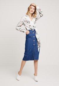 Even&Odd - Pouzdrová sukně -  blue denim - 1