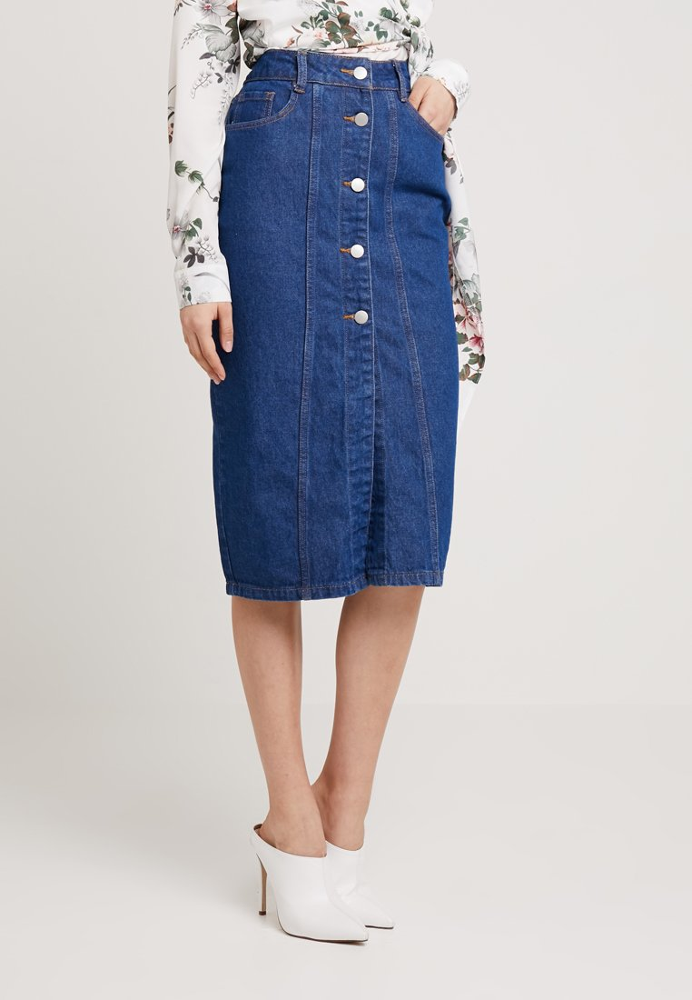 Even&Odd - Falda de tubo -  blue denim