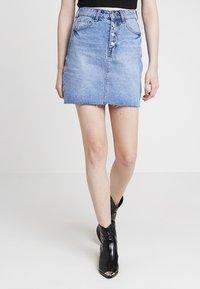 Even&Odd - Áčková sukně - blue denim - 0