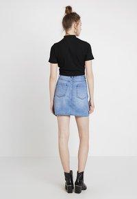 Even&Odd - Áčková sukně - blue denim - 2