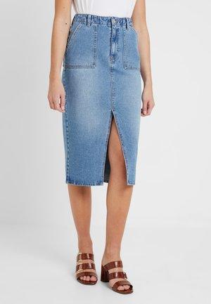 Denimová sukně - mid blue denim