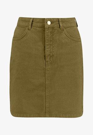 Denimová sukně -  khaki