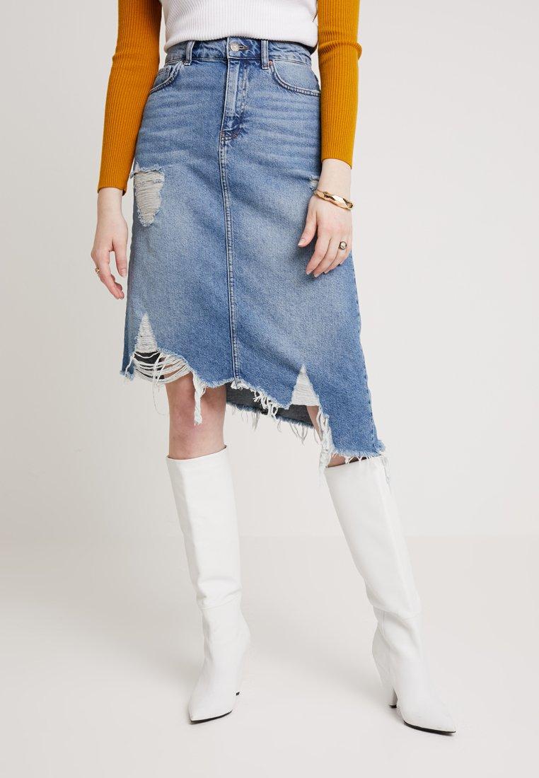 Even&Odd - Gonna di jeans - blue denim