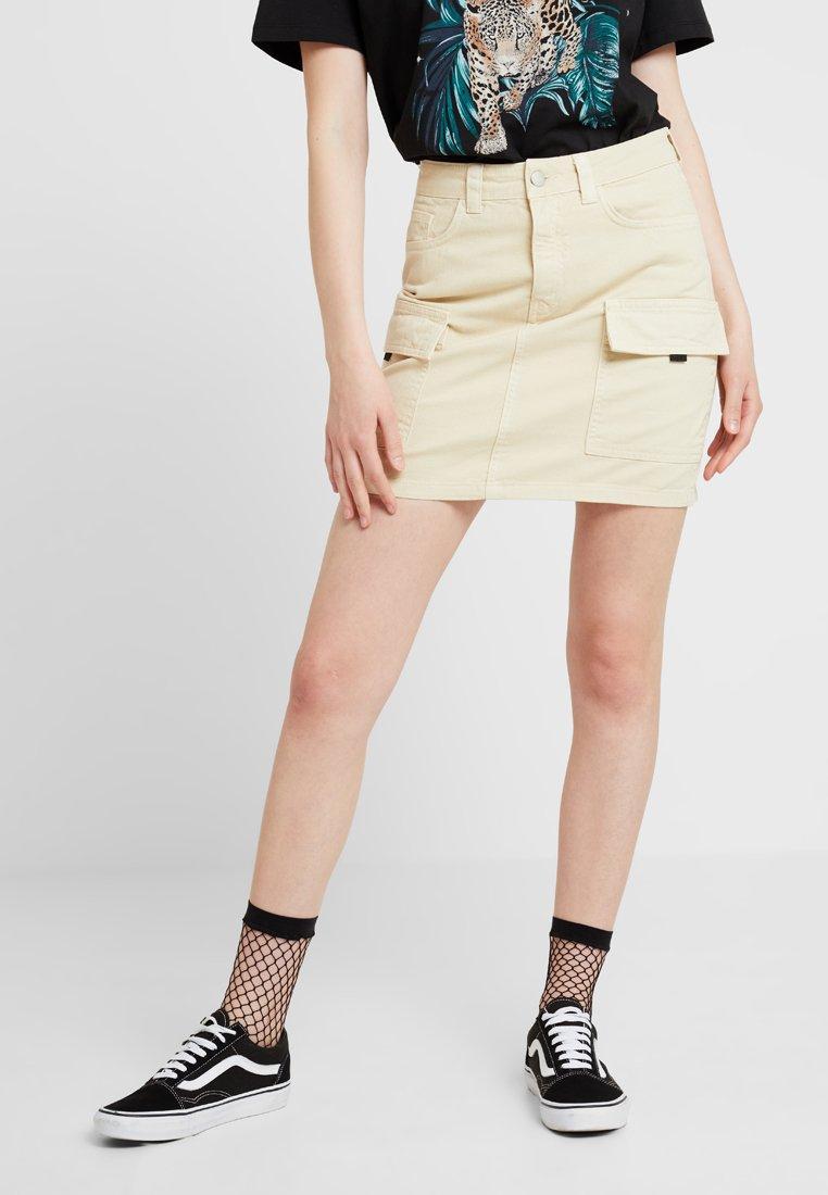 Even&Odd - Jeansrock - beige
