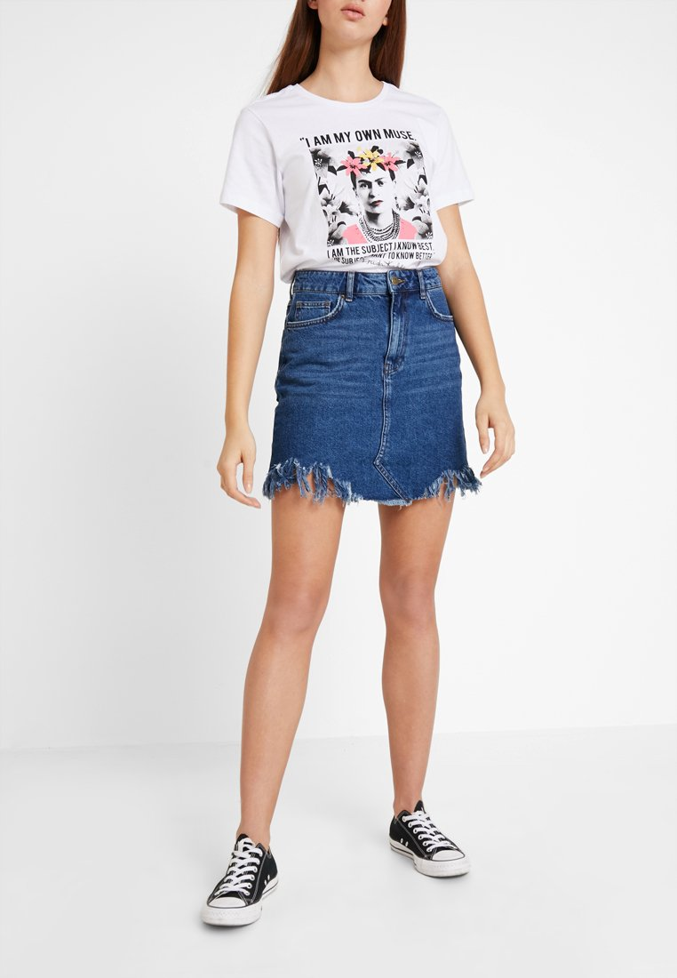 Even&Odd - Denim skirt - blue denim