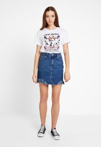 Even&Odd - Denim skirt - blue denim - 1