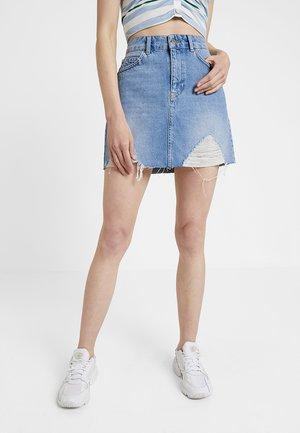 Pouzdrová sukně - blue denim