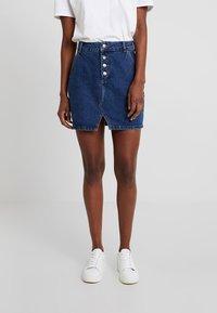Even&Odd - Áčková sukně - dark blue denim - 0