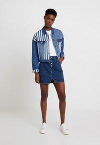 Even&Odd - Áčková sukně - dark blue denim - 1