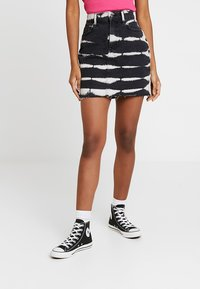 Even&Odd - Jeansrok - white/black - 0