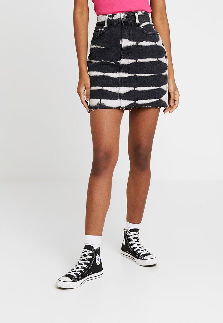 Even&Odd - Denim skirt - white/black