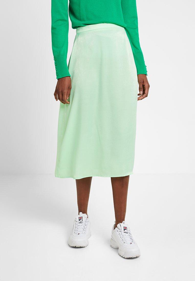 Even&Odd - Áčková sukně - neon green