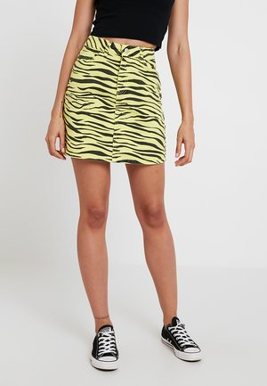 Mini skirt - neon yellow