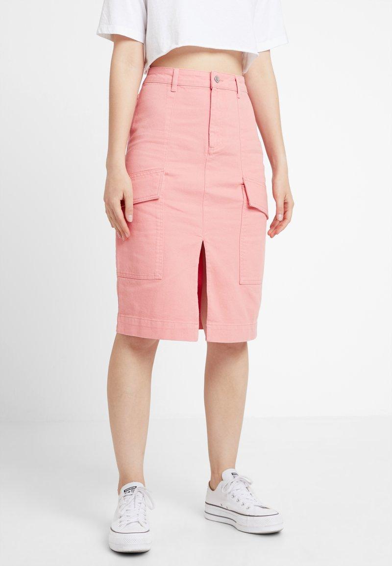 Even&Odd - Falda de tubo - salmon