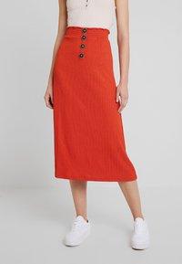 Even&Odd - Pencil skirt - rust - 0