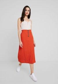 Even&Odd - Pencil skirt - rust - 1