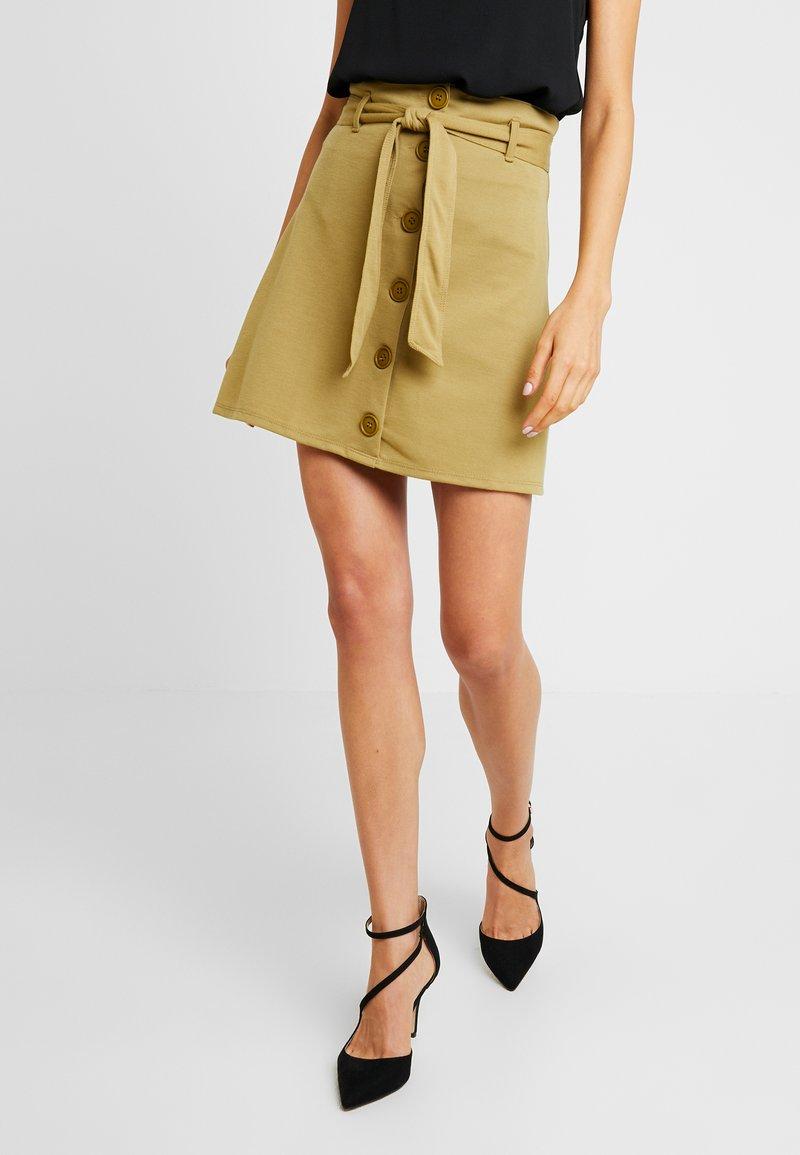 Even&Odd - A-line skirt - khaki