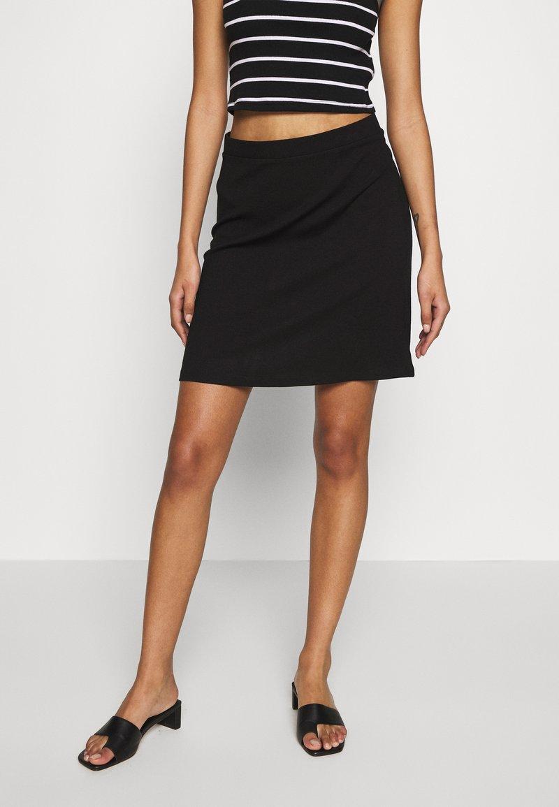 Even&Odd - BASIC - Mini skirt - black