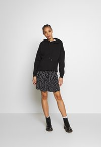 Even&Odd - BASIC - MINI A-LINE SKIRT - A-lijn rok - white/black - 1