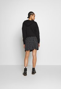 Even&Odd - BASIC - MINI A-LINE SKIRT - A-lijn rok - white/black - 2