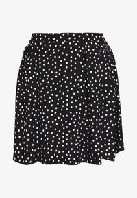 Even&Odd - BASIC - MINI A-LINE SKIRT - A-lijn rok - white/black - 4
