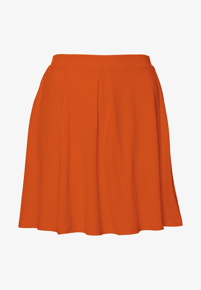 BASIC - MINI A-LINE SKIRT - A-lijn rok - orange.com