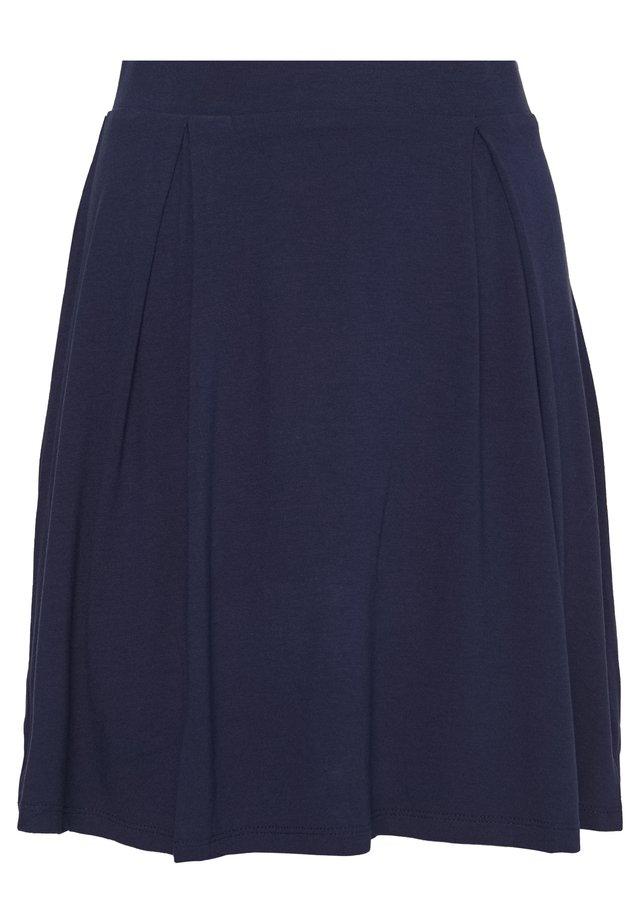 BASIC - MINI A-LINE SKIRT - Jupe trapèze - evening blue