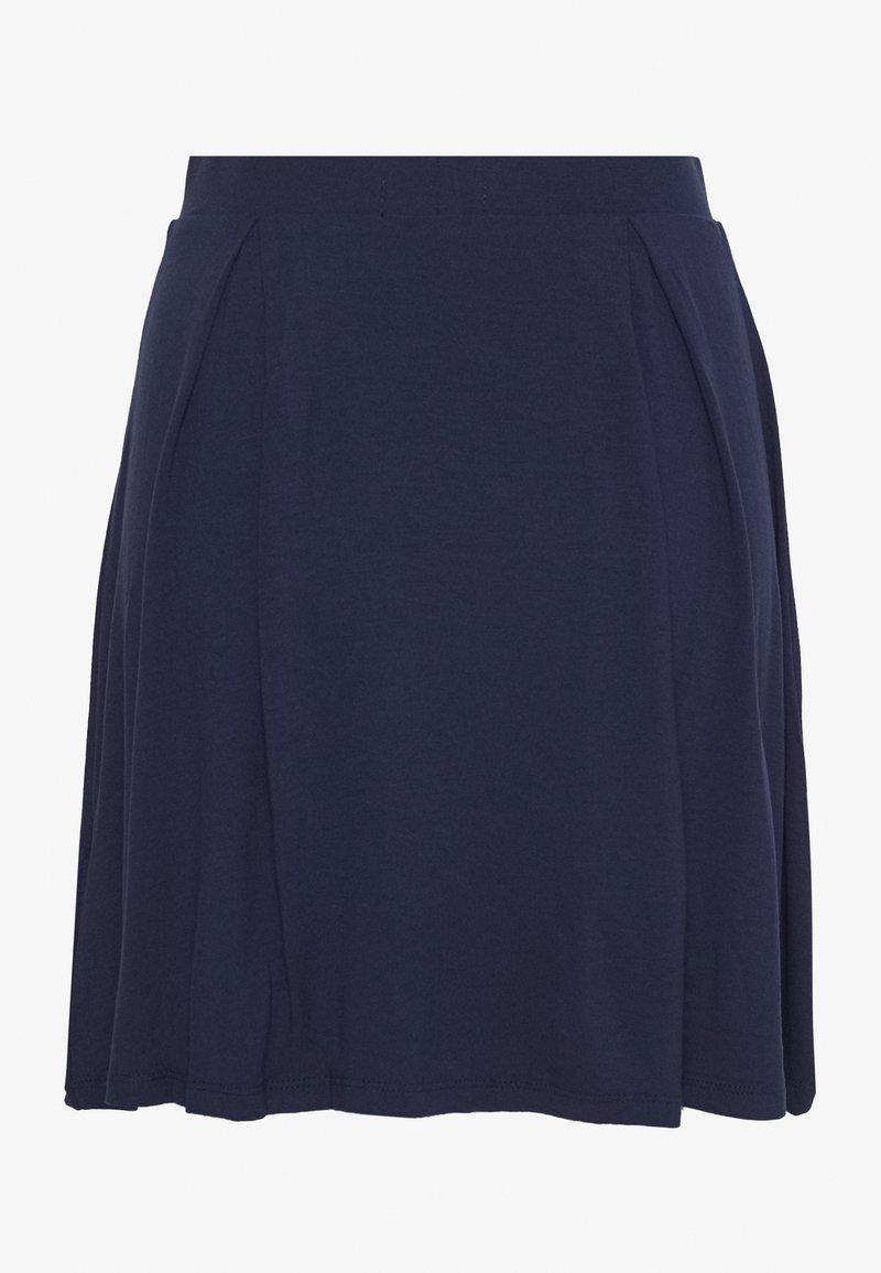 Even&Odd BASIC - MINI A-LINE SKIRT - A-line skjørt - evening blue