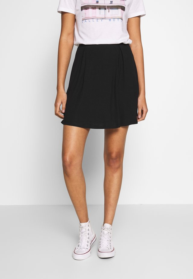 BASIC - MINI A-LINE SKIRT - A-linjainen hame - black