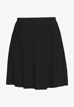 BASIC - MINI A-LINE SKIRT - Jupe trapèze - black