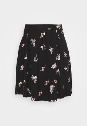 BASIC - MINI A-LINE SKIRT - A-line skjørt - multicoloured/black