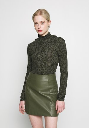 LEOPARD LONG SLEEVES TOP - Top s dlouhým rukávem - khaki/black