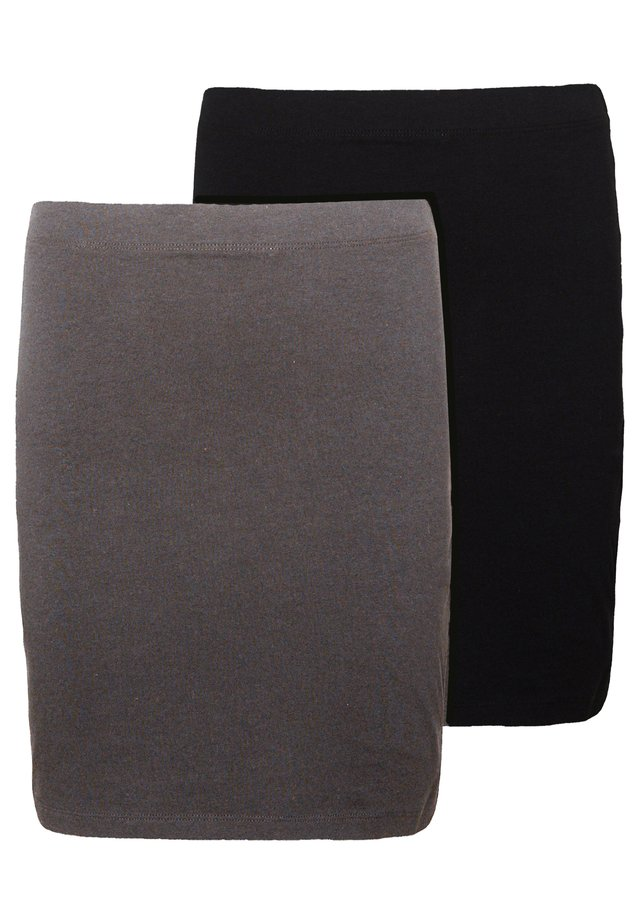 2 PACK - Gonna a tubino - grey/black