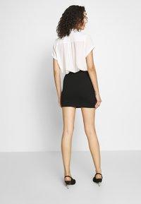 Even&Odd - BASIC- 2ER PACK MINI SKIRTS - Pencil skirt - black/peacoat - 3
