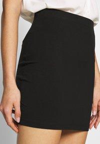 Even&Odd - BASIC- 2ER PACK MINI SKIRTS - Pencil skirt - black/peacoat - 5
