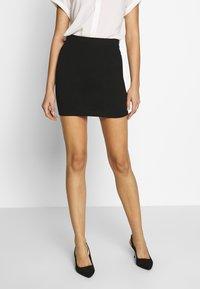 Even&Odd - BASIC- 2ER PACK MINI SKIRTS - Pencil skirt - black/peacoat - 2