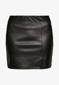 Even&Odd - FAUX-LEDERN MINI ROCK - Mini skirts  - black - 3