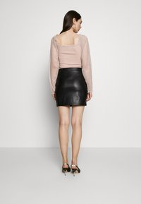 Even&Odd - FAUX-LEDERN MINI ROCK - Mini skirts  - black - 2