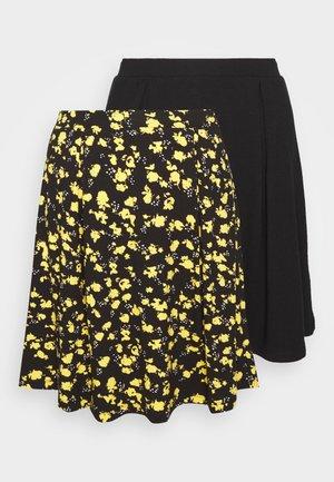 2 PACK - A-lijn rok - black/yellow