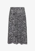 BASIC - Midi A-line skirt - A-line skirt - white/black