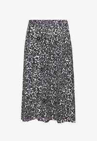 Even&Odd - BASIC - Midi A-line skirt - A-line skjørt - white/black - 0