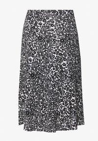 Even&Odd - BASIC - Midi A-line skirt - A-line skjørt - white/black - 1